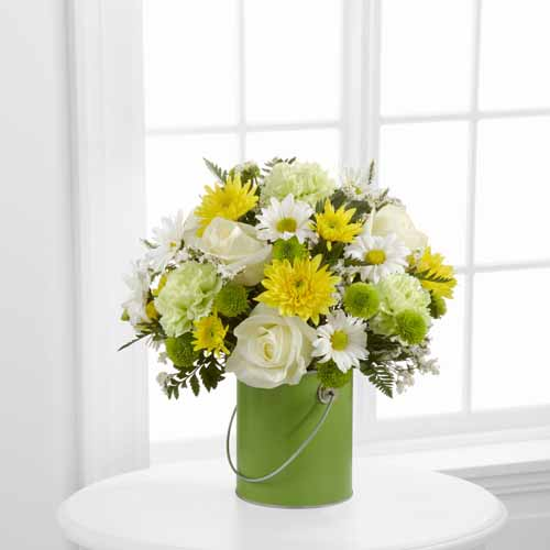Green Paint Can Bouquet