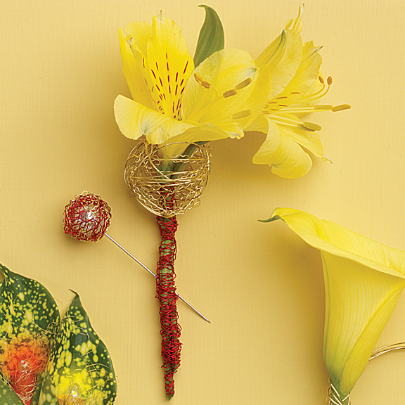 Color Match Boutonniere