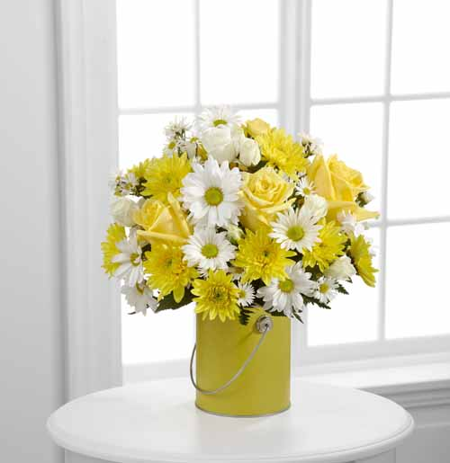 Yellow Paint Can Bouquet