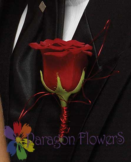 Big Red for Prom Dance Flowers