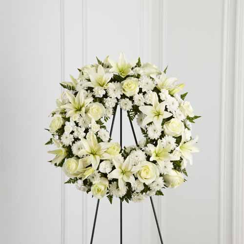 Sympathy For The Service Standing Sprays And Wreaths Treasured