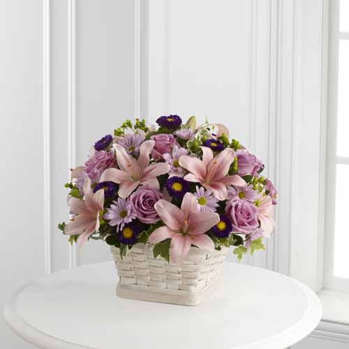 Sympathy for the home floral baskets loving sympathy basket ii loving sympathy basket ii izmirmasajfo