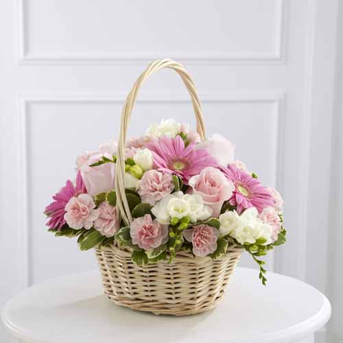Sympathy For The Home Floral Baskets Enduring Peace Basket Ii