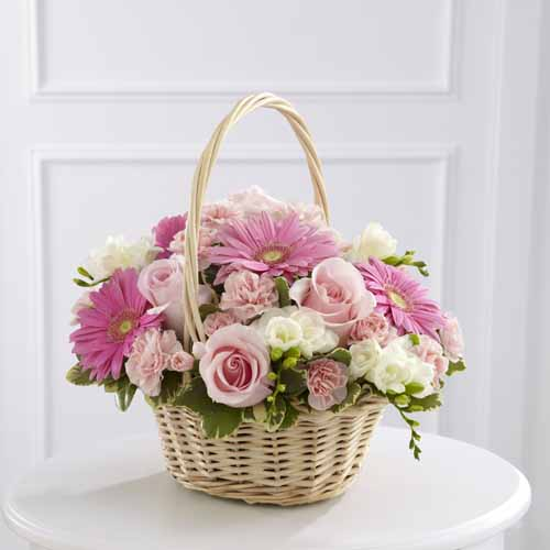 Sympathy For The Home Floral Baskets Enduring Peace Basket Iii